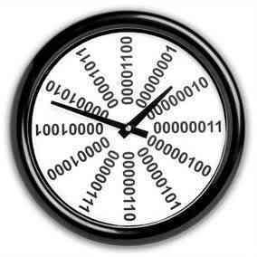 reloj binario