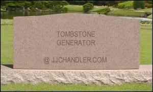 tombstonegenerator