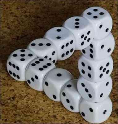 ilusion optica dados