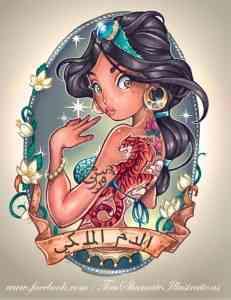 Disney princesses tattoos 2