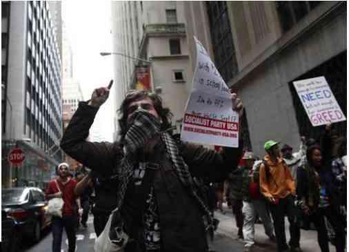 jovenes protesta wall street