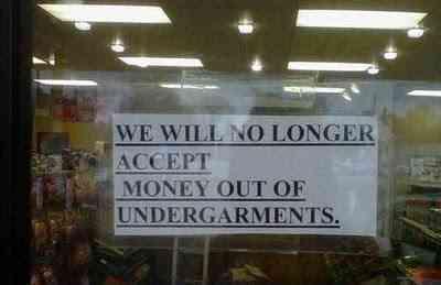 Money in undergarments