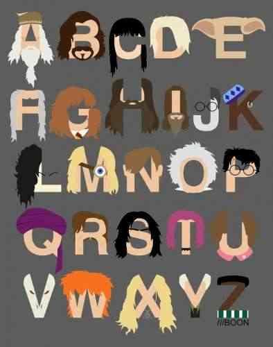 small harry potter alphabet