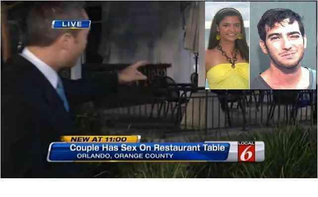 pareja sexo restaurant