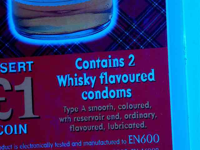 condones whisky