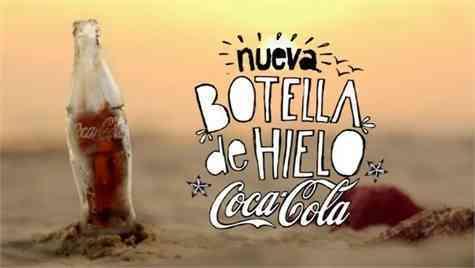 botella hielo coca-cola