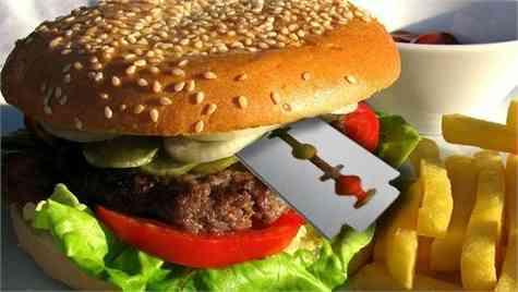hoja afeitar hamburguesa