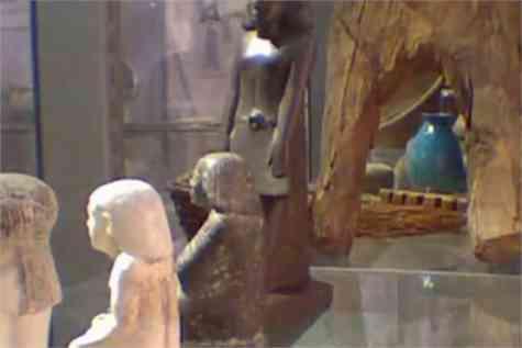 video estatua egipcia mueve