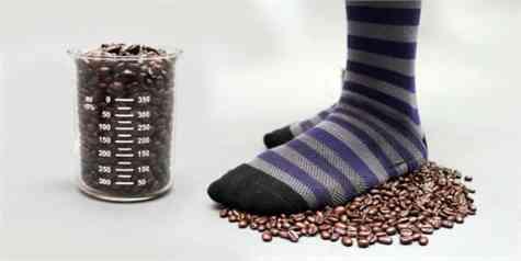 calcetines con olor a café
