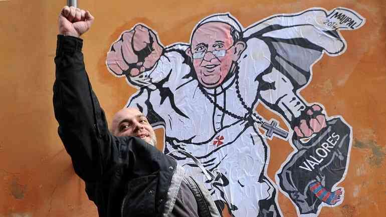 Papa Francisco graffiti