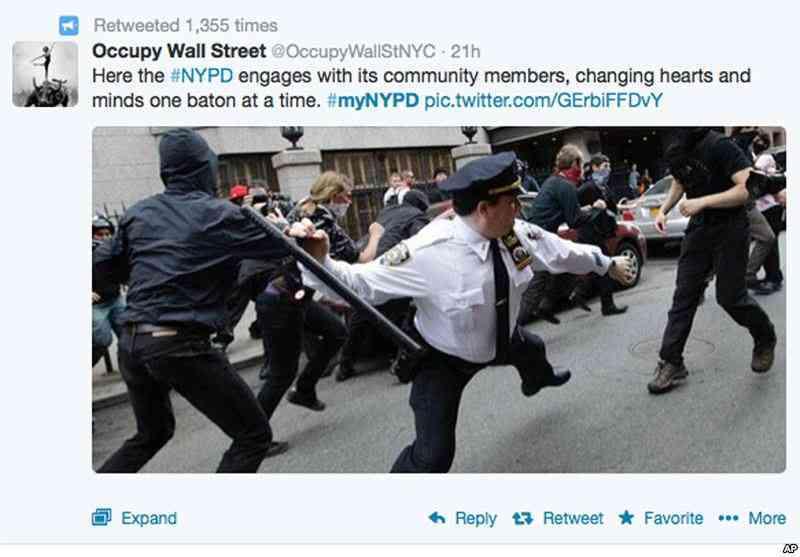 Policías Nueva York Twitter