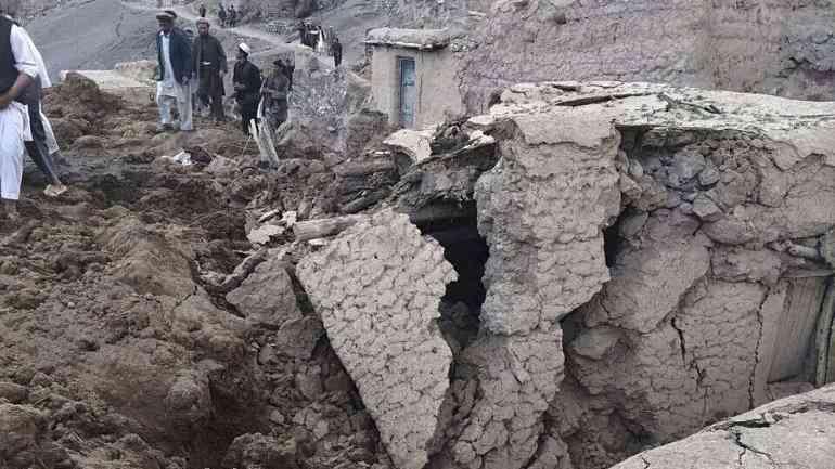 Afganistán derrumbe