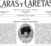Rufina Cambacere: la mujer que murió dos veces